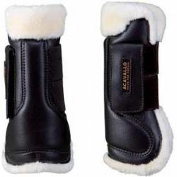 """Γκέτες με γούνα """"Eco-Leather Tendon Boots Eco-Wool Acavallo"""" Μπροστινές"""