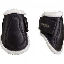 """Γκέτες με γούνα """"Eco-Leather Tendon Boots Eco-Wool Acavallo"""" Πίσω"""